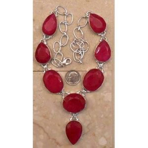 Jewelry - REAL RUBY  sterling silver necklace SJ986-163